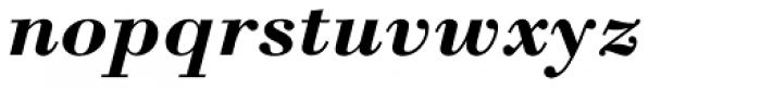 Bodoni M URW Bold Italic Font LOWERCASE