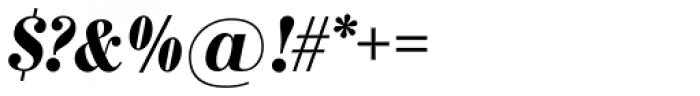 Bodoni Nr 1 SB Bold Cond Italic Font OTHER CHARS