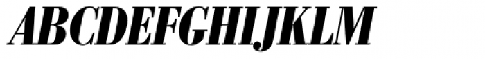 Bodoni Nr 1 SB Bold Cond Italic Font UPPERCASE