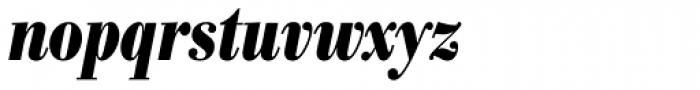 Bodoni Nr 1 SB Bold Cond Italic Font LOWERCASE