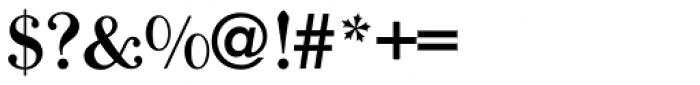 Bodoni Old Fashion URW Medium Font OTHER CHARS