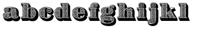 Bodoni Ornamental Font LOWERCASE