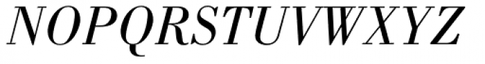 Bodoni Pro Book Italic Font UPPERCASE