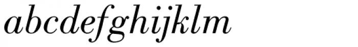 Bodoni Pro Book Italic Font LOWERCASE