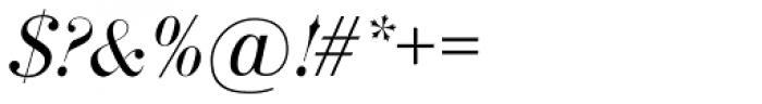 Bodoni SB Italic Font OTHER CHARS