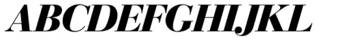 Bodoni SH Bold Italic Font UPPERCASE