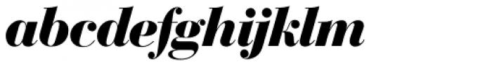 Bodoni SH Bold Italic Font LOWERCASE