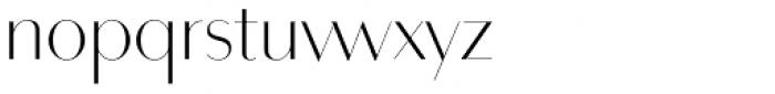 Bodoni Sans Display Light Font LOWERCASE