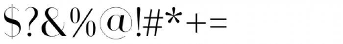 Bodoni Sans Display Regular Font OTHER CHARS