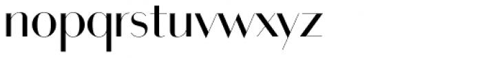 Bodoni Sans Display Regular Font LOWERCASE
