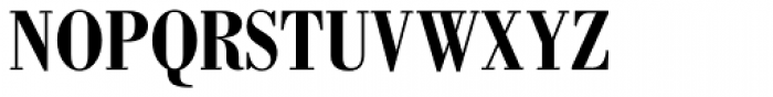 Bodoni Std Bold Condensed Font UPPERCASE