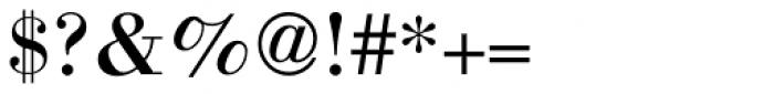 Bodoni Std Font OTHER CHARS