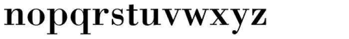 Bodoni Std Font LOWERCASE