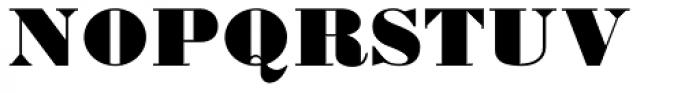 Bodoni Ultra Regular Font UPPERCASE