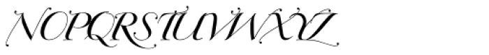 Bodonian Script 2 Font UPPERCASE