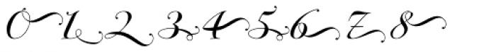 Bodonian Script 5 Font OTHER CHARS