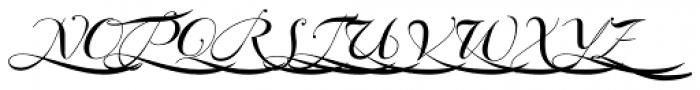 Bodonian Script 5 Font UPPERCASE