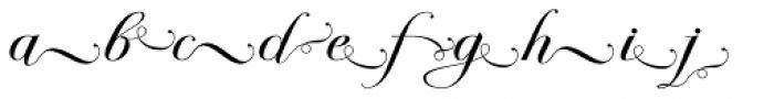 Bodonian Script 5 Font LOWERCASE