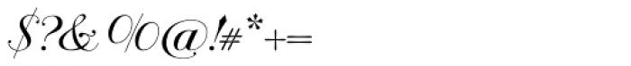 Bodonian Script 6 Font OTHER CHARS
