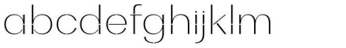 Bodrum Stencil 11 Thin Font LOWERCASE
