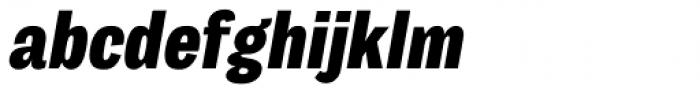 Body Grotesque Slim Extra Bold Italic Font LOWERCASE