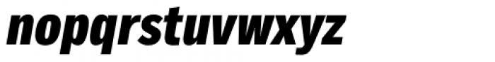 Body Text Slim Extra Bold ITalic Font LOWERCASE