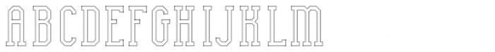 Bodybuilder Inline FX Font UPPERCASE