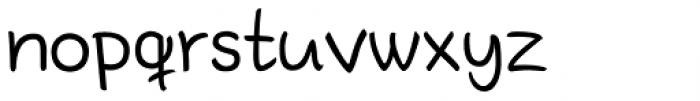 Bodyhand Regular Font LOWERCASE