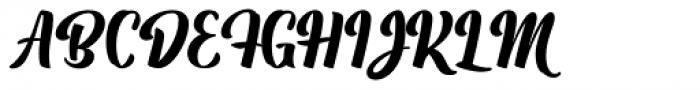 Boemia Font UPPERCASE