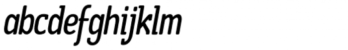 Boffin Condensed Italic Font LOWERCASE