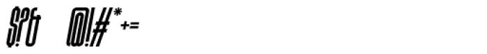 Bohema Uppercase Italic Font OTHER CHARS