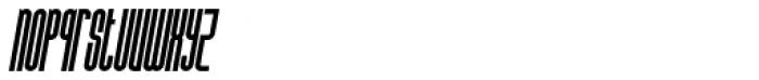 Bohema Uppercase Italic Font LOWERCASE