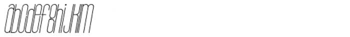Bohema Uppercase Light Italic Font LOWERCASE