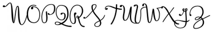 Boho Script Drop Bold Font UPPERCASE