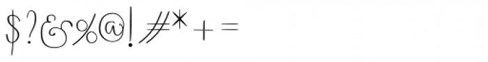Boho Script Drop Font OTHER CHARS