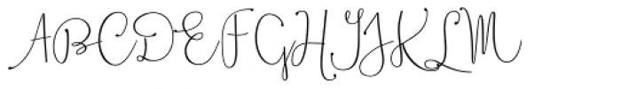 Boho Script Drop Font UPPERCASE