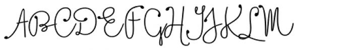 Boho Script Line Drop Bold Font UPPERCASE
