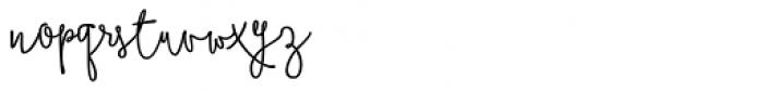 Boho Script Line Drop Bold Font LOWERCASE