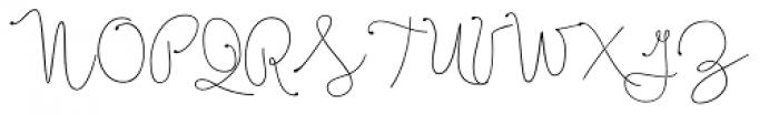 Boho Script Line Drop Font UPPERCASE