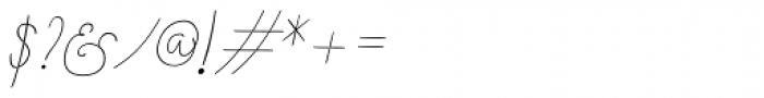 Boho Script Line Italic Font OTHER CHARS