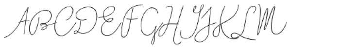Boho Script Line Italic Font UPPERCASE