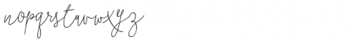 Boho Script Line Italic Font LOWERCASE