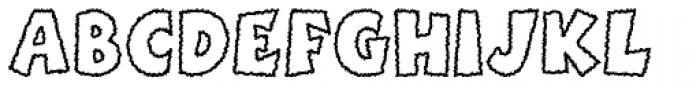 Boink Scratchy Outline Font UPPERCASE