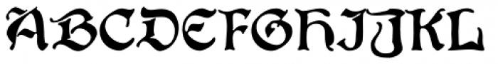 Boister Black Pro Font UPPERCASE