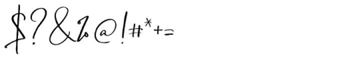 Boisterous Script Regular Font OTHER CHARS