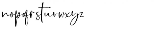 Boisterous Script Regular Font LOWERCASE