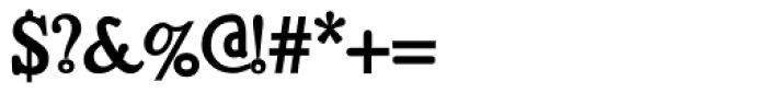 Bold Regeneration X Font OTHER CHARS