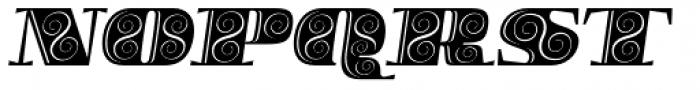 Boldesqo Serif 4F Decor Italic Font UPPERCASE