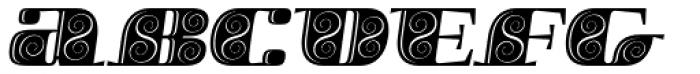 Boldesqo Serif 4F Decor Italic Font LOWERCASE