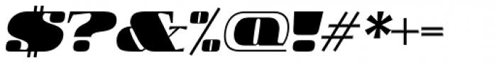 Boldesqo Serif 4F Italic Font OTHER CHARS
